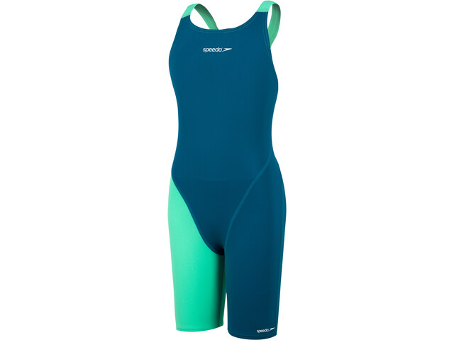speedo Endurance+ Kneeskin Girls nordic teal/green glow